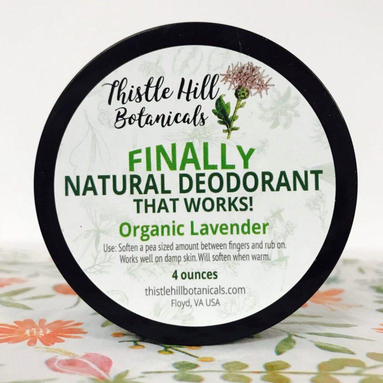 Lavender Natural Deodorant that Works