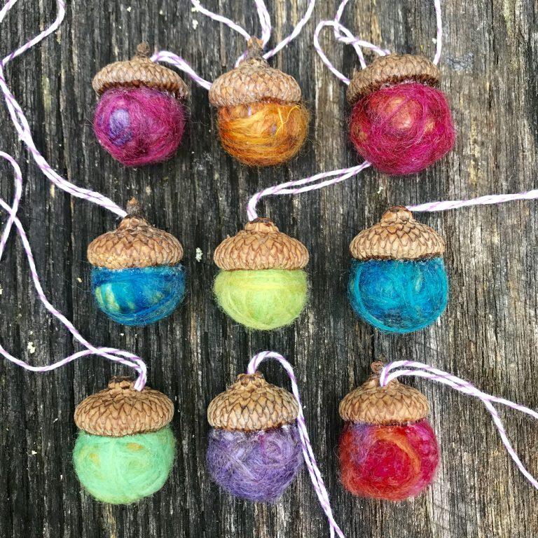 Air Freshener - Felted Acorn- Ornament*