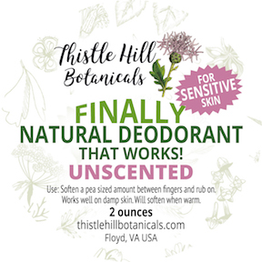 NEW- Sensitive NATURAL Deodorant UNSCENTED!