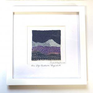 Blue Ridge Mountains Embroidered Framed Art Floyd, VA