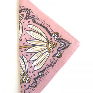 Botanical Coneflower Bandana- Made. in USA