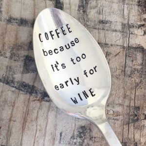 Wine Drinker Gift- Stamped Spoon